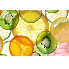 Fototapeta plasterki owoców   do kuchni