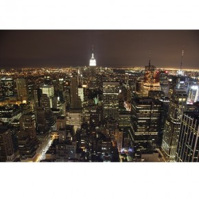 Fototapeta z panoramą miasta
