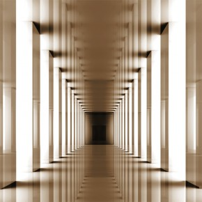 Fototapeta tunel sepia