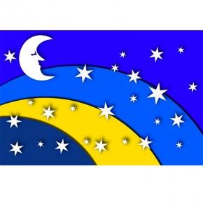Księżyc nocą | Fototapeta dla dzieci