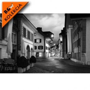 Fototapeta uliczka noc czarno biała