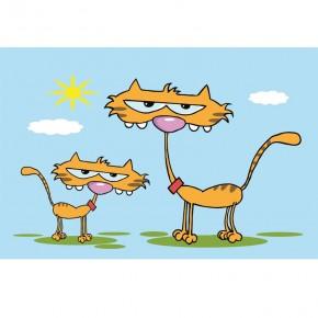 Kotki dwa | Fototapeta dla dzieci