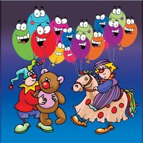Klaun i balony | Fototapeta dla dzieci