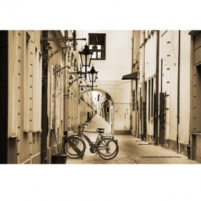 Fototapeta uliczka rower