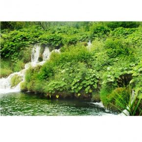 Fototapeta wodospad na łące