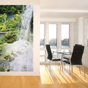 Fototapeta wodospad na wąską ścianę do przedpokoju
