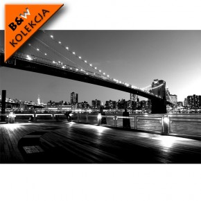 czarno biała Brooklyn Bridge