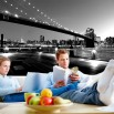 Fototapeta czarno biała Brooklyn Bridge | fototapety New York