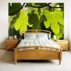 dekoracja do salonu na ścianę z liśćmi
