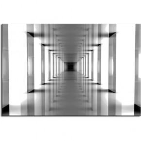 Fototapeta nowoczesny tunel w kolorze czarno białym