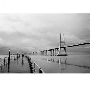 Fototapeta Vasco da Gama czarno biały most