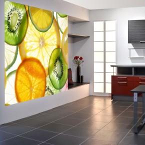Fototapeta plasterki owoców | do kuchni