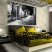 ranżacja sypialni | fototapeta uliczka nocą