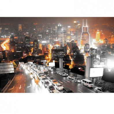 Fototapeta pomarańczowa metropolia