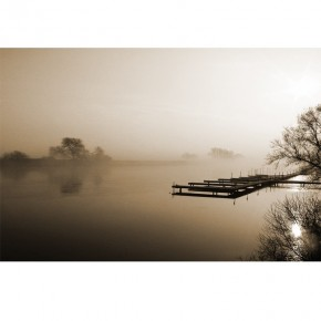 Fototapeta pomost na jeziorze