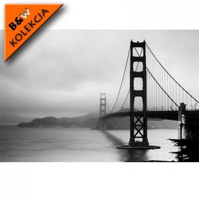 Fototapeta Golden Gate czarno biała   fototapety mosty