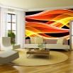 Pomarańczowa dekoracja na ścianę do salonu