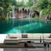 Fototapeta wodospad turkusowe jeziorko