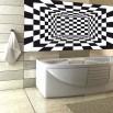 Fototapeta szachownica do łazienki
