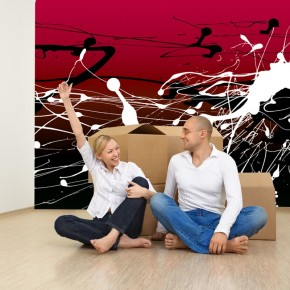 Fototapeta czarno białe plamy | fototapeta abstrakcja