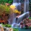 Fototapeta kolorowy wodospad