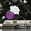 Fototapeta czarna róża - aranżacja w salonie