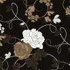 Fototapeta czarna róża - w sepii