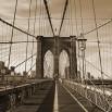 Fototapeta Brooklyn Bridge w sepii