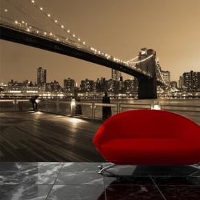 Fototapeta Brooklyn Bridge w sepii | fototapety mosty