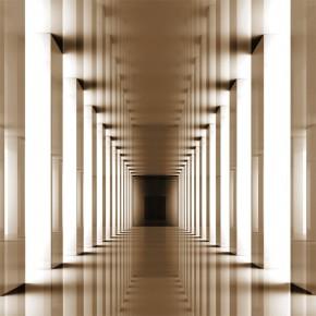 Fototapeta brązowa przestrzeń tunelu