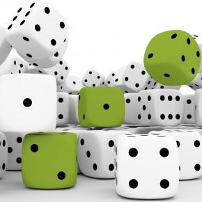 zielone kości do gry