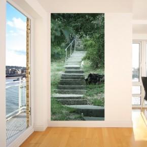 Wąska tapeta na ścianę betonowe schody