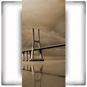 Fototapeta wąski brązowy most