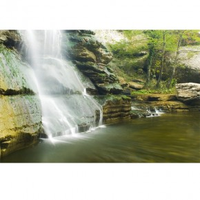 biały wodospad