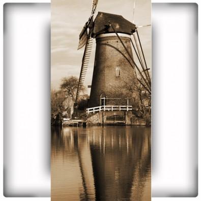 Fototapeta wiatraki na wąską ścianę