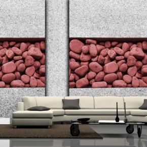 Fototapeta różowa kamienna ściana