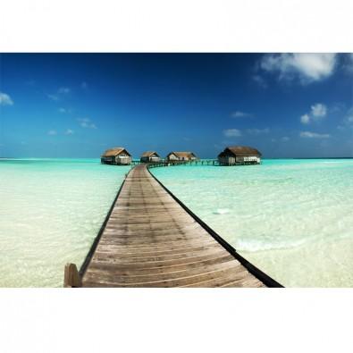 Fototapeta Malediwy kładka w tropikach