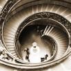 Fototapeta w sepii kręcone schody