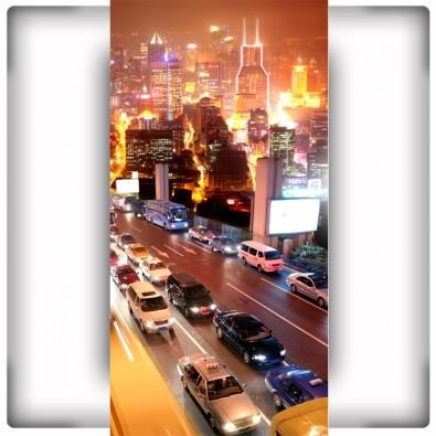 Foto-tapeta Autostrada nocą w mieście