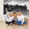 Fototapeta tropikalna plaża - czarno biała