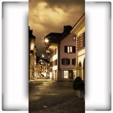 Fototapeta nocny zakątek na wąską ścianę