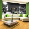 Fototapeta oświetlona przystań - aranżacja w salonie