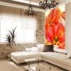 Fototapeta malwy - ozdoba wąskiej ściany w salonie
