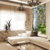 Fototapeta pień brzozowy w salonie
