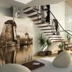 Aranżacja salonu - fototapeta Holandia Wiatraki