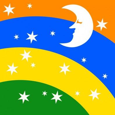 Fototapeta księżyc i gwiazdy