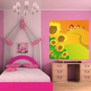 Bajkowy dom   Fototapeta dla dzieci