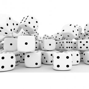 Fototapeta kości do gry czarno-białe