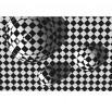 Fototapeta kwadraty 3d czarno biała