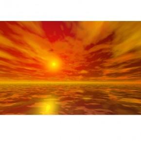 Fototapeta pomarańczowe niebo | Zachód słońca